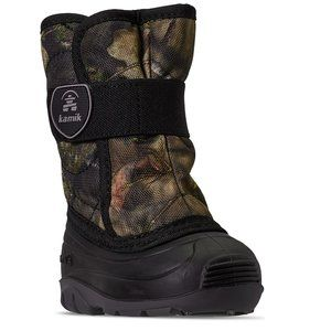 NEW  Kamik Toddler Boys Snowbug Outdoor camo boots